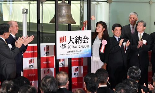 Japan Stock Exchange closing ceremony Dainokai