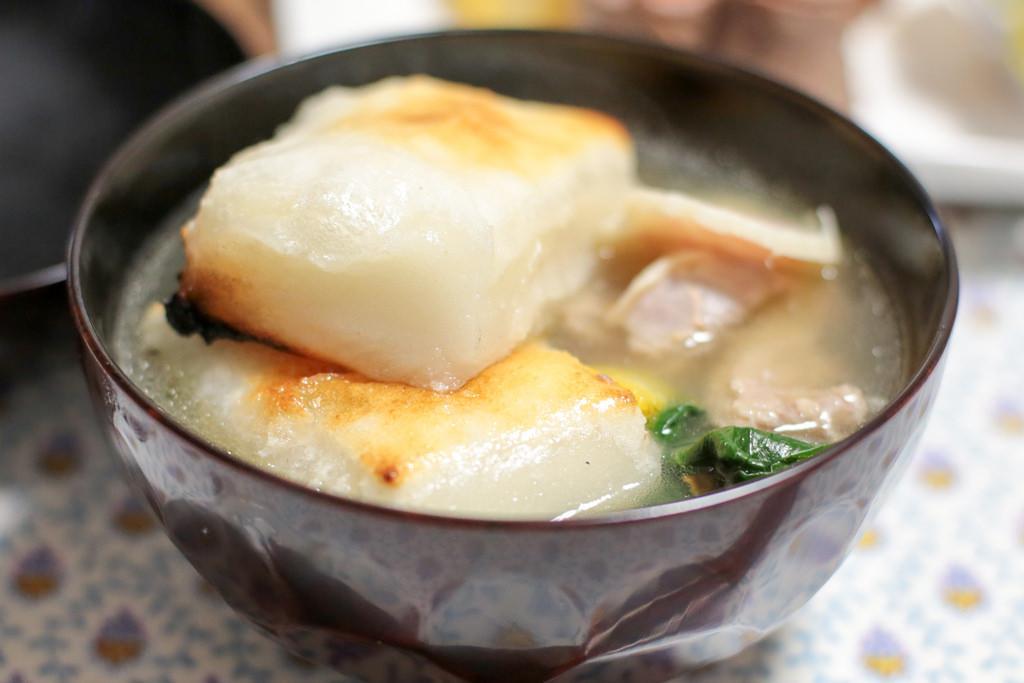Ozoni, mochi rice cake soup