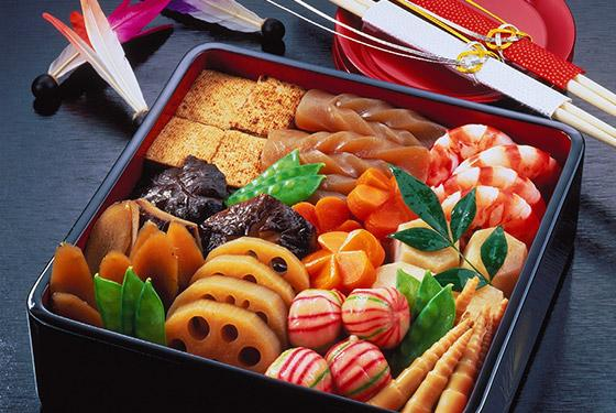 Osechi-ryori set from convenience store