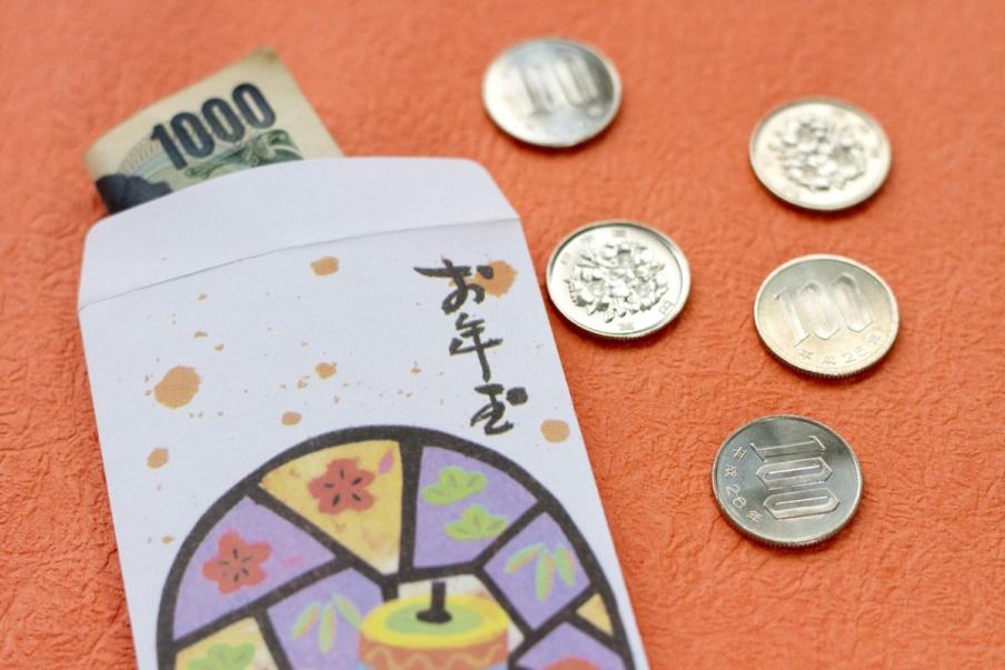 Otoshidama small envelope with money gift for Japanese children
