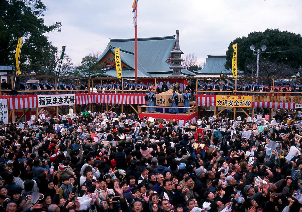 setsubun festival at temple in Japan