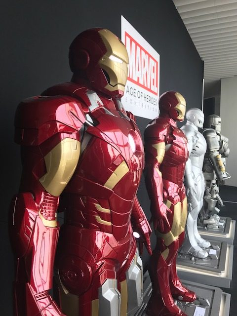 Hall of Armors at the Marvel Age of Heroes Exhibit
