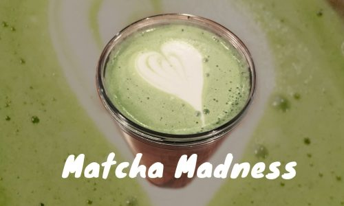 Matcha latte art