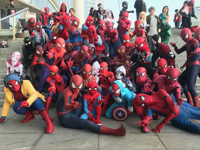 The Spider-Verse invades Chiba during the 2017 Tokyo Comic Con... can you find me?
