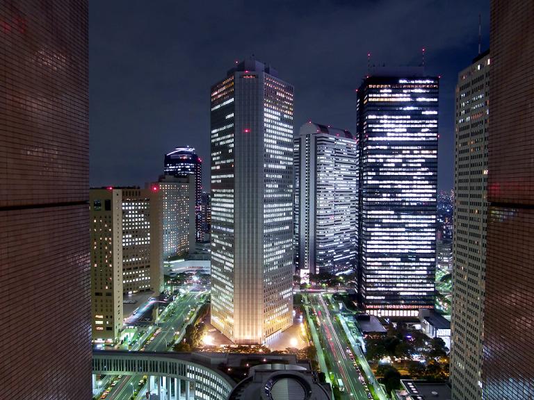 View từ tầng cao nhất của tòa nhà
